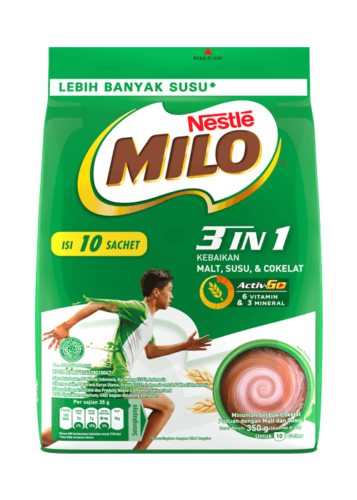 MILO 3in1 Polybag 10x35g